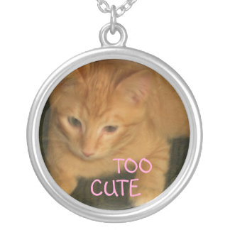 """Kitty """"TOO CUTE"""" Necklace"""