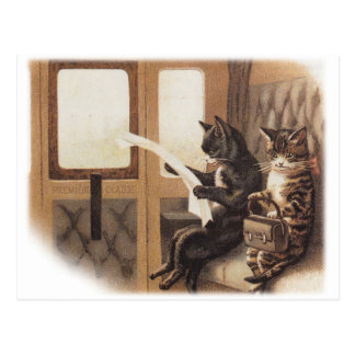 Kitty train ride postcard