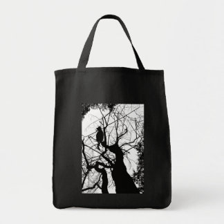 KITTY TREE SILHOUETTE B&W BAGS