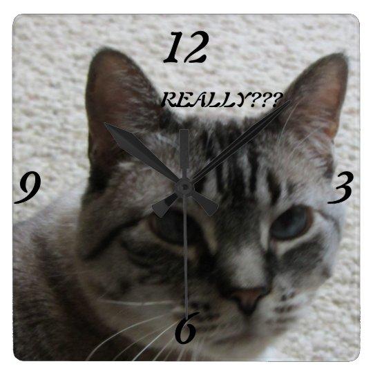 Kitty Tude Wall Clock !