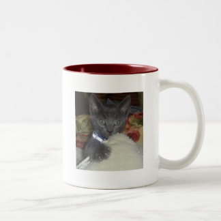 Kitty Two-Tone Coffee Mug