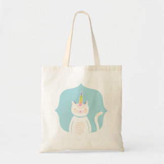 Kitty Unicorn Tote Bags