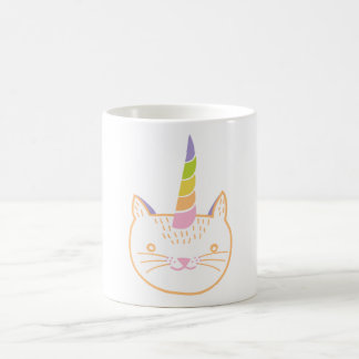 Kitty Unicorn Basic White Mug