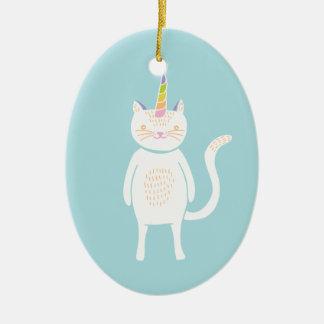 Kitty Unicorn Christmas Ornament