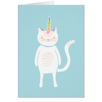 Kitty Unicorn Greeting Card