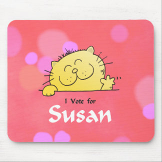 Kitty Vote for Susan Fun Gift Mouse Pad