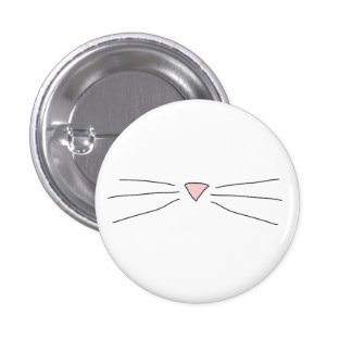 Kitty Whiskers Pin Badge