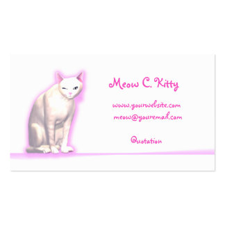 Kitty Wink - Business Size Double-Sided Standard Business Cards (Pack Of 100)