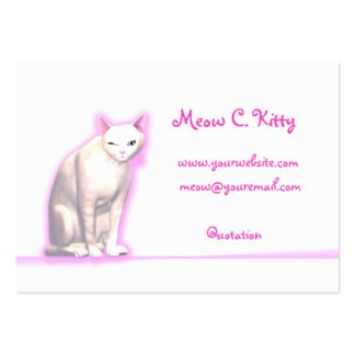 Kitty Wink - Chubby Size Pack Of Chubby Business Cards