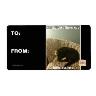 Kitty Wishes Shipping Label