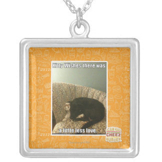 Kitty Wishes Silver Plated Necklace