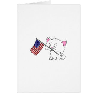 Kitty with Flag Cards