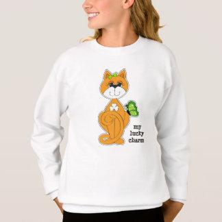 Kitty with Shamrock St.Patrick's Day Sweatshirts