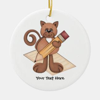 Kitty Writer Christmas Ornament