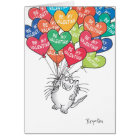 KITTY WTH HEART BALLOONS Valentines by Boynton Card