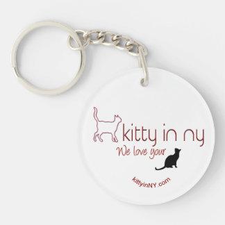 kittyinNY - acrylic keychain