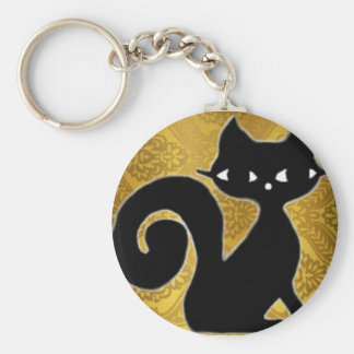 KittyNoir Basic Round Button Key Ring