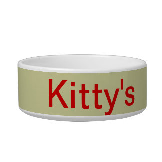 Kitty's food bowl cat water bowls