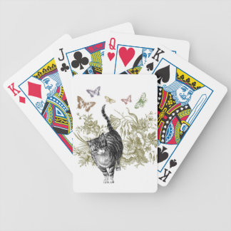 Kitty's Garden Bicycle Playing Cards