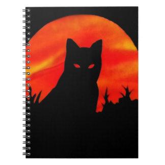 Kitty's Harvest Moon Spiral Notebooks