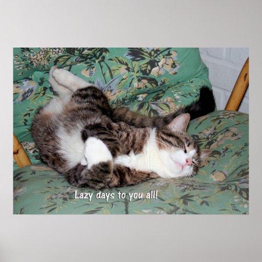 Kitty's Lazy Days Poster