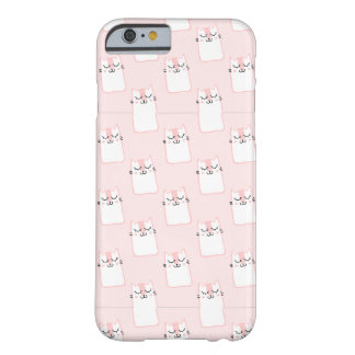 Kittys On Pink iPhone 6/6s, Barely There Cell Case