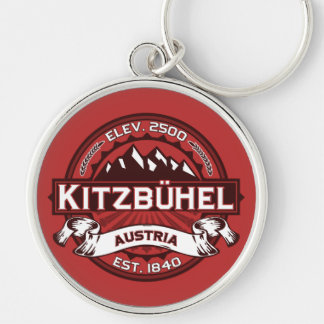 Kitzbühel Logo Silver-Colored Round Key Ring