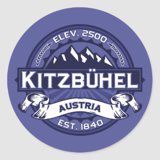 Kitzbühel Logo Midnight Round Sticker