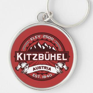Kitzbühel Logo Silver-Colored Round Key Ring