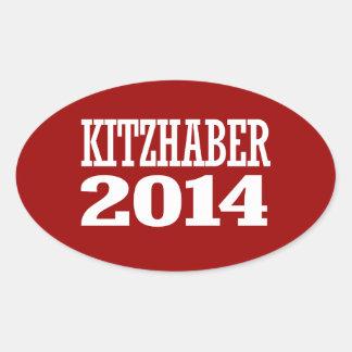 KITZHABER 2014 OVAL STICKER