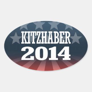 KITZHABER 2014 OVAL STICKERS