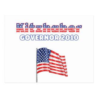 Kitzhaber Patriotic American Flag 2010 Elections Postcard