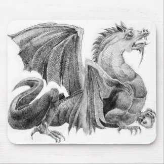 KIW Sparks: Dragon Master BW Mousepad