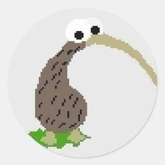 Kiwi 1 classic round sticker