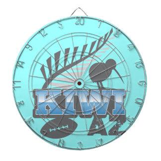 KIWI AZ rugby bird and silver fern Dart Boards