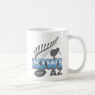 d232e83a980 KIWI AZ rugby bird and silver fern New Zealand Coffee Mug