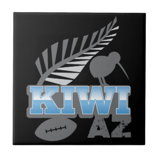 KIWI AZ rugby bird and silver fern New Zealand Tile