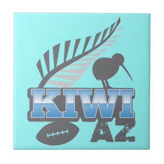 KIWI AZ rugby bird and silver fern Tile