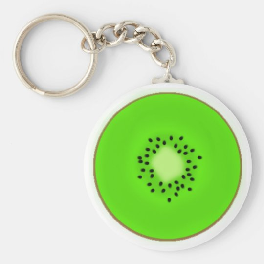 Kiwi Basic Round Button Key Ring