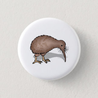 Kiwi Bird 3 Cm Round Badge