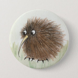 Kiwi Bird 7.5 Cm Round Badge