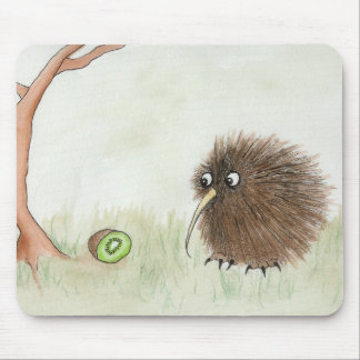 Kiwi Bird & Kiwi Fruit Mouse Mat