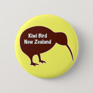 Kiwi Bird - New Zealand 6 Cm Round Badge