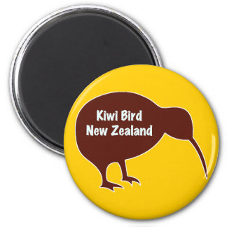 Kiwi Bird - New Zealand 6 Cm Round Magnet