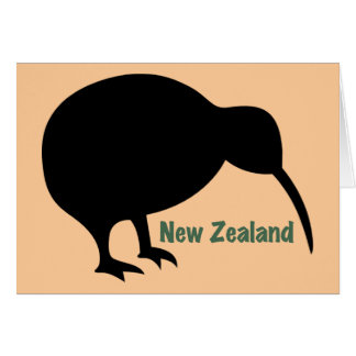 Kiwi Bird - New Zealand Card