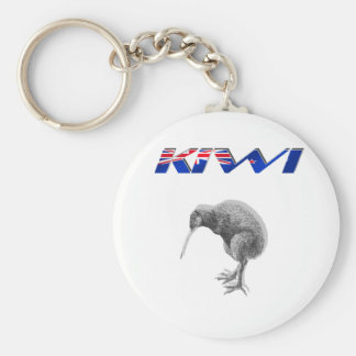 Kiwi Bird New Zealand flag logo gifts Key Ring