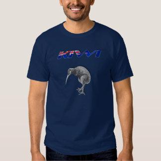 Kiwi Bird New Zealand flag logo gifts T Shirts