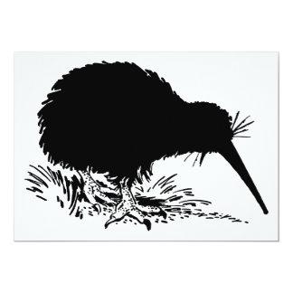 Kiwi Birds 13 Cm X 18 Cm Invitation Card