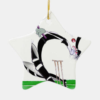 kiwi cricket eye on the ball, tony fernandes christmas ornament