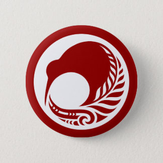 Kiwi Fern Disc 6 Cm Round Badge